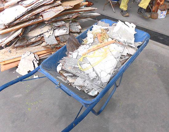 周智郡森町 木造家屋解体工事解体中