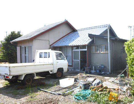 袋井市山崎 木造家屋解体工事解体前