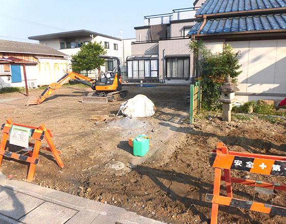浜松市中区中島 木造家屋解体工事解体後
