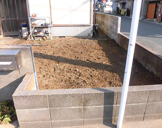 浜松市中区中島 木造家屋解体工事解体中