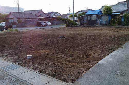 西伊場町 木造家屋解体工事解体後